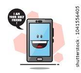 cartoon smartphone character....   Shutterstock .eps vector #1041556405