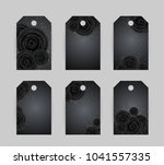 luxury cards with black glamour ... | Shutterstock .eps vector #1041557335