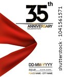 35th anniversary design with... | Shutterstock .eps vector #1041561571