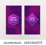 gift voucher with technological ... | Shutterstock .eps vector #1041562075