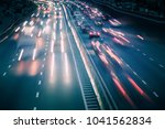 view of traffic car lights on a ... | Shutterstock . vector #1041562834