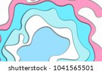 paper cut abstract background.... | Shutterstock .eps vector #1041565501