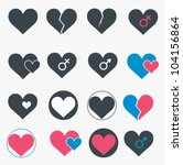 set of heart icons. vector | Shutterstock .eps vector #104156864