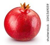 juicy pomegranate fruit... | Shutterstock . vector #1041569059