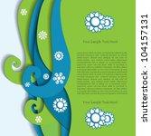 abstract adorable banner border | Shutterstock .eps vector #104157131