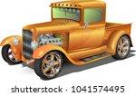hot rod truck  fully editable.. ... | Shutterstock .eps vector #1041574495