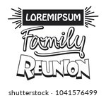 family reunion template design | Shutterstock .eps vector #1041576499