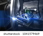 operator machine metalworking... | Shutterstock . vector #1041579469