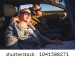 portrait of smiling elderly... | Shutterstock . vector #1041588271