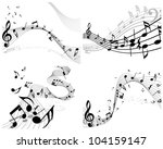 musical notes staff background... | Shutterstock . vector #104159147