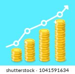 coin icon. stack of golden... | Shutterstock .eps vector #1041591634