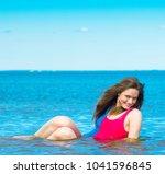 summer joy splashing beauty  | Shutterstock . vector #1041596845