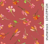 seamless pattern with... | Shutterstock . vector #1041599134