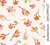 seamless pattern with... | Shutterstock . vector #1041599137