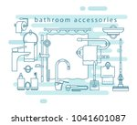 bathroom accessories. shower...   Shutterstock .eps vector #1041601087