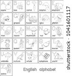 Coloring Page. English Alphabe...