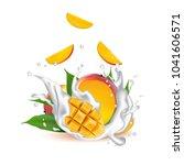 milk splash 3d illustration...   Shutterstock .eps vector #1041606571