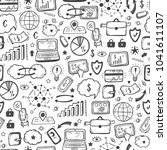 hand drawn doodle internet of... | Shutterstock .eps vector #1041611107