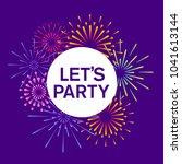 fireworks and celebration... | Shutterstock .eps vector #1041613144
