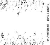 black flying musical notes... | Shutterstock .eps vector #1041618049