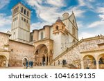 assisi  italy   january 14 ... | Shutterstock . vector #1041619135