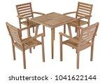 teak table garden furniture...   Shutterstock . vector #1041622144