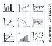 hand drawn business doodle set... | Shutterstock .eps vector #1041623209
