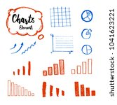 hand drawn business doodle set... | Shutterstock .eps vector #1041623221