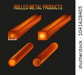 hot rolled metal products.... | Shutterstock .eps vector #1041628405