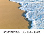 sea waves in the sand | Shutterstock . vector #1041631105