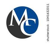 letter m and c vector logo. | Shutterstock .eps vector #1041632011