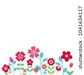hello spring floral background. ... | Shutterstock .eps vector #1041634117