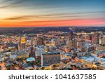 san antonio  texas  usa skyline ... | Shutterstock . vector #1041637585
