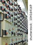 electric voltage control room... | Shutterstock . vector #104164169