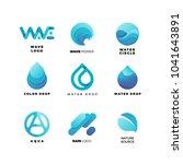 abstract gradient water logo... | Shutterstock .eps vector #1041643891