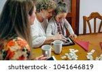 grandmother and granddaughter... | Shutterstock . vector #1041646819