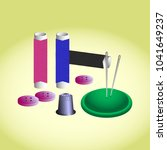 sewing accessories   threads ... | Shutterstock .eps vector #1041649237
