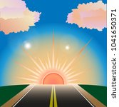 the way to sunset or the dawn . ... | Shutterstock .eps vector #1041650371