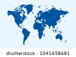 world map vector | Shutterstock .eps vector #1041658681