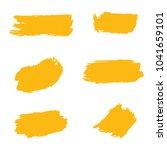set of hand painted golden... | Shutterstock .eps vector #1041659101