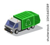 garbage collector truc | Shutterstock .eps vector #1041660589