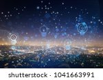 smart city concept | Shutterstock . vector #1041663991