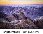 sunset from the summit of mt... | Shutterstock . vector #1041664291