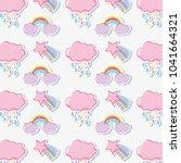 punchy pastels pattern... | Shutterstock .eps vector #1041664321
