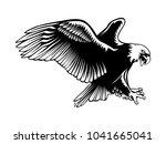 eagle emblem isolated on white... | Shutterstock .eps vector #1041665041