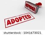 adopted accepted adoption stamp ... | Shutterstock . vector #1041673021