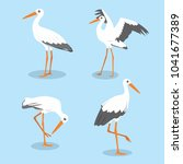 stork bird vector illustration | Shutterstock .eps vector #1041677389