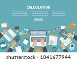 calculation concept.... | Shutterstock .eps vector #1041677944