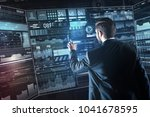 convenient screen. calm clever...   Shutterstock . vector #1041678595
