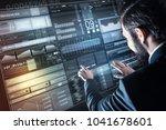 creating program. clever... | Shutterstock . vector #1041678601